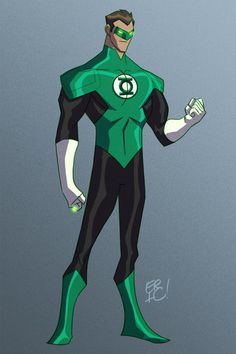 Animated New 52 Justice League Design by Eric Guzman - Green Lantern