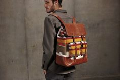 Pendleton Fall 2012 Portland Collection by Nathaniel Crissman, Rachel Turk and John Blasioli. Only Fashion, Mens Fashion, Pendleton Bag, Back Bag, Cute Handbags, Cowboy And Cowgirl, Attractive Men, Leather Design, Leather Backpack