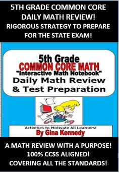"""5TH GRADE COMMON CORE DAILY MATH REVIEW! CHALLENGING WAY TO REVIEW ALL THE STANDARDS NECESSARY TO PASS YOUR STATE STANDARDIZED TEST WITH A """"NUMBER OF THE DAY"""" TYPE PROCESS...  I created the 5th Grade Math Common Core Interactive Notebook Morning Math """"Mojo"""" program last year to use with my gifted students as a rigorous, challenging; but teacher friendly daily warm-up plan that would expose them to numerous grade level math skills each week."""