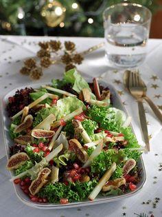 Σαλάτα γαλλική με λόλα, μήλα και σος ροδιού - ΑΒ Βασιλόπουλος Soup And Salad, Pasta Salad, Christmas Recipes, Soul Food, Soups, Salads, Ethnic Recipes, Crab Pasta Salad, Soup
