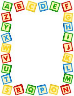 Alphabet Blocks Border