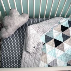 Custom Modern Geometric Baby Quilt for Boy or Girl – Reversible by NotSewStrange on Etsy https://www.etsy.com/listing/250201786/custom-modern-geometric-baby-quilt-for