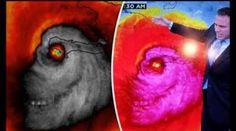 """Furacão Matthew aparece com face""""demoníaca"""" em fotos da NASA e assusta milhares de crentes em todo o mundo ~ Sempre Questione"""