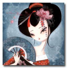 Mis Laminas para Decoupage (pág. 153) | Aprender manualidades es facilisimo.com Art And Illustration, Illustrations, Pretty Art, Cute Art, Art Geisha, Bel Art, Art Mignon, Art Asiatique, Art Japonais