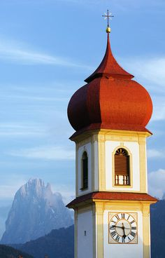 San Pietro Church, Dolomites, Italy Amazing Dolomites http://www.travelandtransitions.com/european-travel/