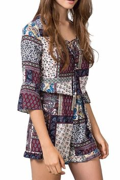 Women's Clothing Gold Embroidery Fab Playsuit. Jumpsuits & Rompers Kind-Hearted Ladies Boutique Playsuit