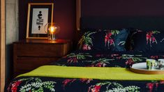crimson-blossom-print-duvet-set-with waffle throw Bed Company, Some Beautiful Images, Bed Throws, Duvet Sets, Bed Spreads, Waffle, Bedroom Furniture, Create Your Own, Beds
