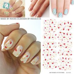 [Visit to Buy] Water Transfer Cute Sexy Red Lips Design Nails Stickers Manicure Styling Tools Water Film Paper Decals #Advertisement
