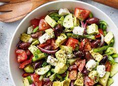 12 x Gezonde Mediterrane Recepten | GIRLS WHO MAGAZINE Bruchetta Recipe, Low Gi Foods, Lunch Restaurants, Feta Salad, Food For Thought, Clean Eating, Food And Drink, Dinner Recipes, Veggies