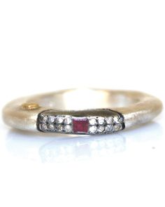 Rosecut Ruby Ring by Rosa Maria