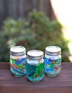 Pysseltips – gör ett miniakvarium i en glasburk