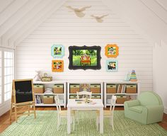 love this play room! esp. the pics on the wall!
