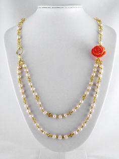 Camellia | Necklaces | Ooh-la-la Beadtique | Jewelry and Rosaries handmade in Canada