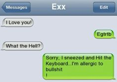 So funny.....lol (: