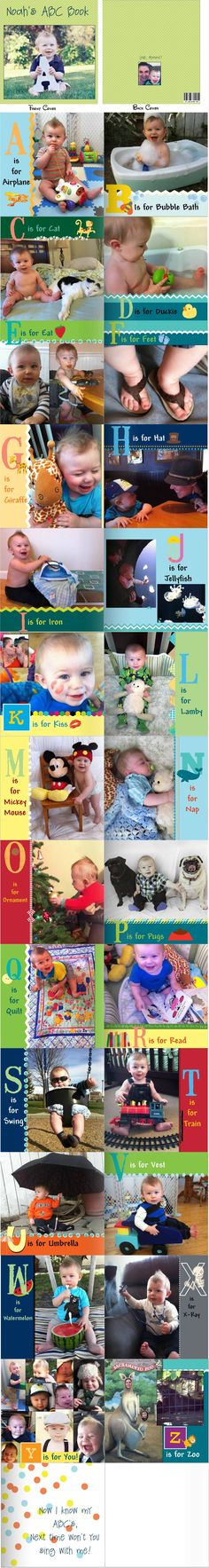DIY ABC photobook from shutterfly. Sorry it's a repost- I was linking it to my blog :)