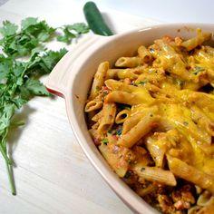 Southwestern chile con queso pasta bake