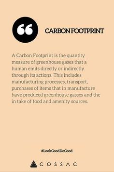 what is carbon footprint / eco fashion dictionary / cossac