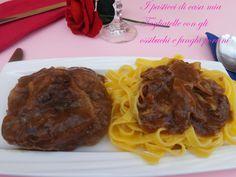 Un piatto unico gustoso e semplice: #Tagliatelle con gli #ossibuchi e #funghi #porcini http://blog.giallozafferano.it/ipasticcidicasamia/2014/03/tagliatelle-con-gli-ossibuchi-e-funghi-porcini/