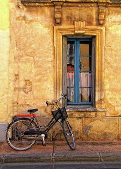 Bicycle And Window In Provence by Dave Mills