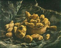 Still Life with an Earthen Bowl and Potatoes, 1885 - Van Gogh