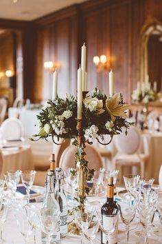 Classic Elegant Country House Wedding Candelabra Flowers http://www.jayrowden.com/