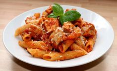 Tonhalas tészta Penne, Onion Rings, Chicken Wings, Shrimp, Food And Drink, Ethnic Recipes, Recipe Ideas, Google, Italy