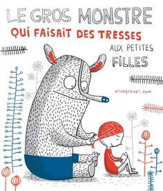 kids • illustration • children • book • art • drawing • monster • little girl • story