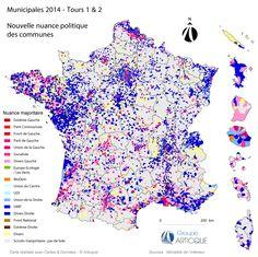 Municipales 2014 : nouvelle couleur politique des communes après le 2nd tour