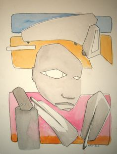 wcol [2014] pencil, gouace and document-marker on paper