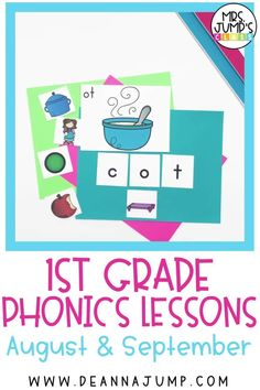 Looking for some done for you kindergarten lesson plans for teaching phonics? This phonics curriculum bundle can be used to teach first grade and kindergarten phonics. Each week focuses on a letter name and sound and is both systemic and explicit.