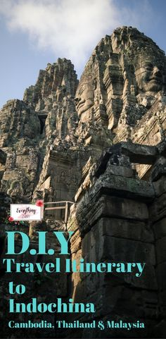 DIY Travel Itinerary to Indochina (Cambodia, Thailand and Malaysia)  Solo travel using this travel itinerary to Indochina.I've always been fascinated by the mystical beauty of Indochina. The ancient temples and grandeur architectural designs of their buil