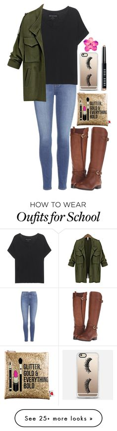 """In School &&; OOTD"" by forevercrazyfashiondivas on Polyvore featuring Paige Denim, True Religion, Naturalizer, Sephora Collection, Casetify and Bobbi Brown Cosmetics"