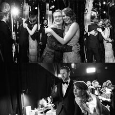 Backstage at the Oscars with Emma Stone, Ryan Gosling, and Meryl Streep
