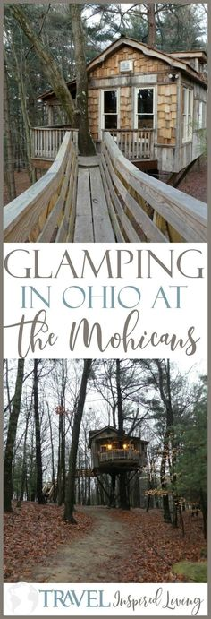 Glamping in Ohio at The Mohicans : Glamping in Ohio? You bet! Spend the night in one of these Treehouses and go glamping at The Mohicans. Go Glamping, Luxury Glamping, Tent Camping, United States Travel, Weekend Trips, Weekend Fun, Vacation Spots, Vacation Ideas, Fun Vacations