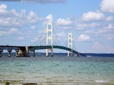mackinaw bridge | Click for full resolution view of Mackinac Bridge On A Sunny Day