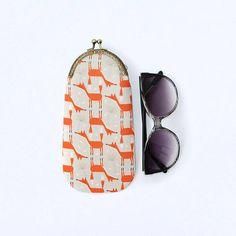 Fox glasses case for kids Fabric sunglasses case Soft glasses
