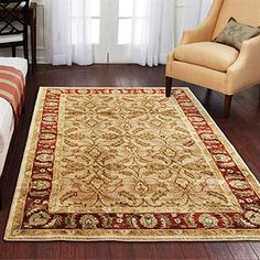 Better Homes and Gardens Karachi Bisque Area Rug for the TV room?