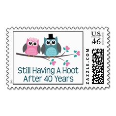 Gift For 40th Wedding Anniversary Hoot Postage