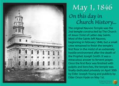 Making Precious Things Plain Blog: On this day in LDS Church History (May 1, 1846)