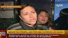 Los Olivos: Cúster atropella y deja en coma a menor por ganar pasajeros