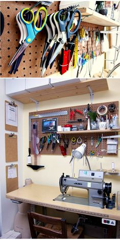 Garage, ideas, man cave, workshop, organization, organize, home, house, indoor, storage, woodwork, design, tool, mechanic, auto, shelving, car.