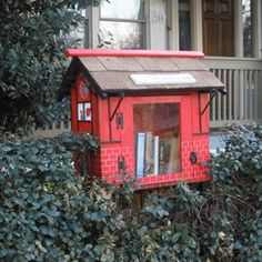 In Houston, TX:  Little Free Library in honor of Donald F. Markgraf.  Cool!