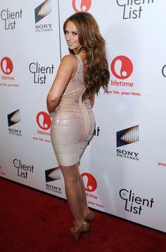 Jennifer Love Hewitt booty in a body con dress