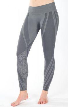 NUX Womens Ava Legging Metallic Grey