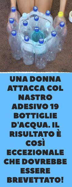 Una donna attacca col nastro adesivo 19 bottiglie d'acqua. Il risultato è così eccezionale che dovrebbe essere brevettato! Hobby Lobby Wedding Invitations, Rc Hobbies, Hobby House, Recycling, Water Bottle, Diy, Pallets, Creativity, Hacks