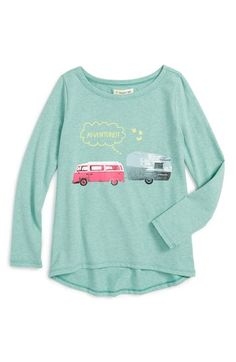 Tucker + Tate Long Sleeve High/Low Graphic Tee (Toddler Girls, Little Girls…