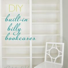 billy bookcase made to look builtin