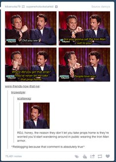 Why RDJ can't take home the props