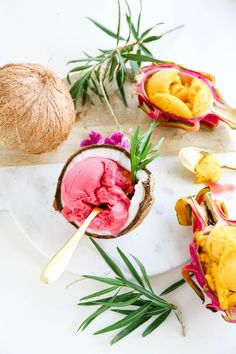 Island flavors with these assorted tropical fruit sorbets >>