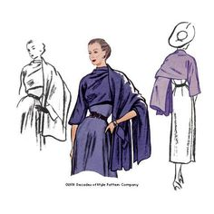 1950s Stole from a mid-century couturier pattern - #5006 – Decades of Style Pattern Company